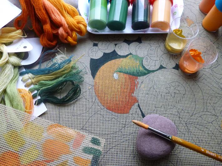 Peinture du canevas